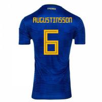 2018-2019 Sweden Away Adidas Football Shirt (Augustinsson 6)