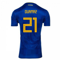 2018-2019 Sweden Away Adidas Football Shirt (Durmaz 21) - Kids
