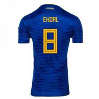 2018-2019 Sweden Away Adidas Football Shirt (Ekdal 8) - Kids