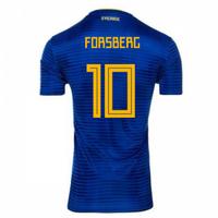 2018-2019 Sweden Away Adidas Football Shirt (Forsberg 10)