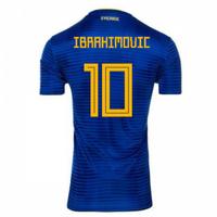 2018-2019 Sweden Away Adidas Football Shirt (Ibrahimovic 10) - Kids