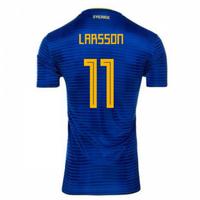 2018-2019 Sweden Away Adidas Football Shirt (Larsson 11)