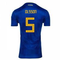 2018-2019 Sweden Away Adidas Football Shirt (Olsson 5) - Kids