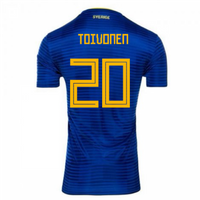 2018-2019 Sweden Away Adidas Football Shirt (Toivonen 20)