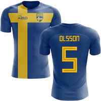 2018-2019 Sweden Flag Concept Football Shirt (Olsson 5)