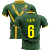 2020-2021 South Africa Springboks Flag Concept Rugby Shirt (Kolisi 6)