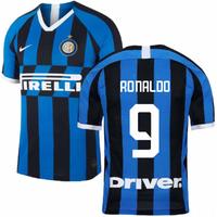2019-2020 Inter Milan Home Nike Football Shirt (Kids) (RONALDO 9)