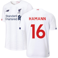 2019-2020 Liverpool Away Football Shirt (Kids) (HAMANN 16)