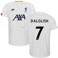 2019-2020 Liverpool Pre Game Jersey (White) (DALGLISH 7)