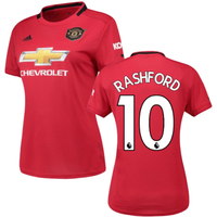 2019-2020 Man Utd Adidas Womens Home Shirt (RASHFORD 10)