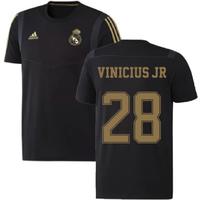 2019-2020 Real Madrid Adidas Training Tee (Black) - Kids (VINICIUS JR 28)