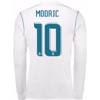 2017-18 Real Madrid Long Sleeve Home Shirt (Modric 10)