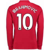 20Ibrahimovic 107-20Ibrahimovic 108 Man United Long Sleeve Home Shirt (Ibrahimovic 10)