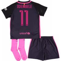 2016-17 Barcelona Away Little Boys Mini Kit (With Sponsor) (O Dembele 11)