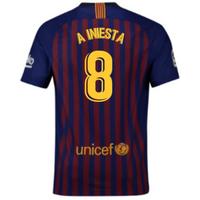 2018-2019 Barcelona Vapor Match Home Nike Shirt (A Iniesta 8)