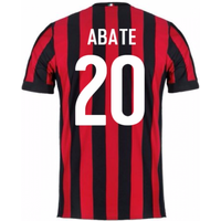 2017-2018 AC Milan Home Shirt (Abate 20) - Kids
