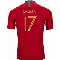 2018-2019 Portugal Home Nike Vapor Match Shirt (Bruma 17)