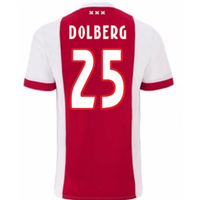 2017-2018 Ajax Home Shirt (Dolberg 25) - Kids