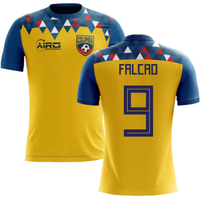 Image of 2020-2021 Colombia Concept Football Shirt (Falcao 9)
