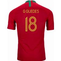 2018-2019 Portugal Home Nike Vapor Match Shirt (G Guedes 18)