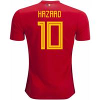 2018-2019 Belgium Adidas Home Shirt (Hazard 10)