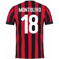 2017-2018 AC Milan Home Shirt (Montolivo 18) - Kids