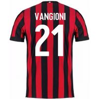 2017-2018 AC Milan Home Shirt (Vangioni 21)