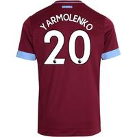 2018-2019 West Ham Home Football Shirt (Yarmolenko 20)