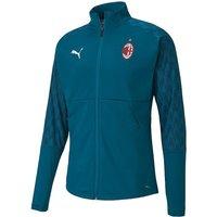 Image of 2020-2021 AC Milan Stadium Jacket (Deep Lagoon)