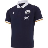 2020-2021 Scotland Home Cotton Rugby Shirt (Kids)