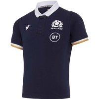 2020-2021 Scotland SS Home Cotton Rugby Shirt