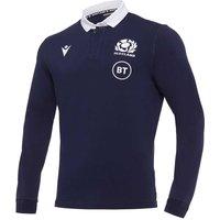 2020-2021 Scotland LS Home Cotton Rugby Shirt