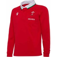 2020-2021 Wales Home LS Cotton Rugby Shirt (Kids)