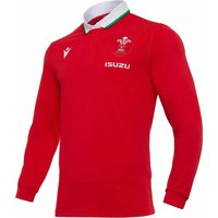 2020-2021 Wales Home LS Cotton Rugby Shirt