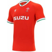 2020-2021 Wales Home Pro Body Fit Rugby Shirt