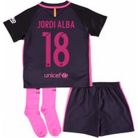 2016-17 Barcelona Away Baby Kit (Jordi Alba 18)