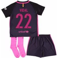 2016-17 Barcelona Away Baby Kit (Vidal 22)