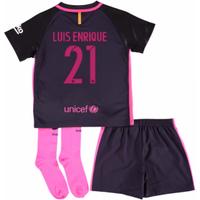 2016-17 Barcelona Away Little Boys Mini Kit (With Sponsor) (Luis Enrique 21)