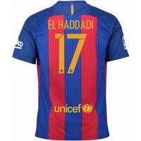 2016-17 Barcelona Sponsored Home Shirt (El Haddadi 17) - Kids