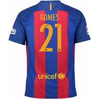 2016-17 Barcelona Sponsored Home Shirt (Gomes 21)
