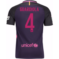 2016-17 Barcelona With Sponsor Away Shirt - (Kids) (Guardiola 4)