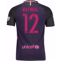 2016-17 Barcelona With Sponsor Away Shirt - (Kids) (Rafinha 12)