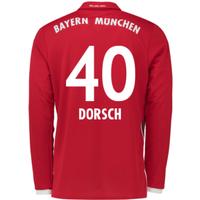 2016-17 Bayern Munich Long Sleeve Home Shirt (Dorsch 40)