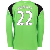 2016-17 Liverpool Home Goalkeeper Shirt (Mignolet 22)