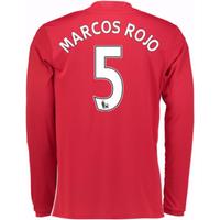 2016-17 Man United Home Long Sleeve Shirt (Marcos Rojo 5)
