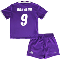 2016-17 Real Madrid Away Baby Kit (Ronaldo 9)
