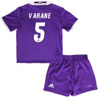 2016-17 Real Madrid Away Baby Kit (Varane 5)