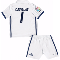 2016-17 Real Madrid Kids Home Mini Kit (Casillas 1)