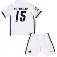 2016-17 Real Madrid Kids Home Mini Kit (Coentrao 15)
