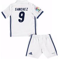2016-17 Real Madrid Kids Home Mini Kit (Sanchez 9)